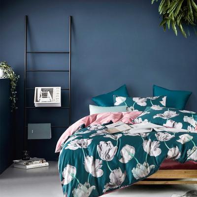 2019新款-60支长绒棉数码印花四件套 1.5m(5英尺)床 盛放