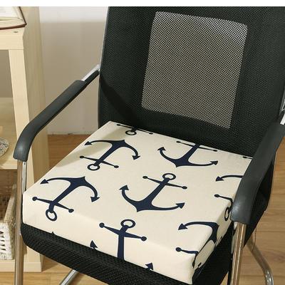 45D全棉帆布高密度加硬海绵坐垫椅垫可拆洗双面印花支持定做 30*40*5cm 大锚