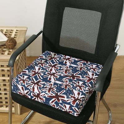 45D全棉帆布高密度加硬海绵坐垫椅垫可拆洗双面印花支持定做 30*40*5cm 米琪