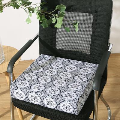 45D全棉帆布高密度加硬海绵坐垫椅垫可拆洗双面印花支持定做 30*40*5cm 青花