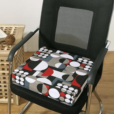 45D全棉帆布高密度加硬海绵坐垫椅垫可拆洗双面印花支持定做 30*40*5cm 圈圆
