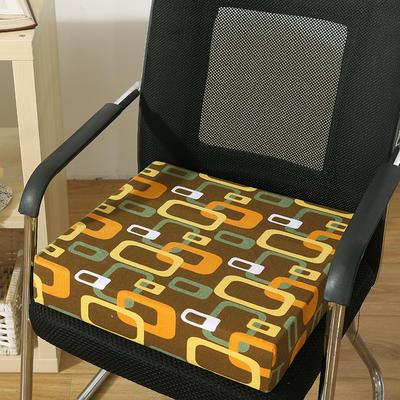 45D全棉帆布高密度加硬海绵坐垫椅垫可拆洗双面印花支持定做 30*40*5cm 时空