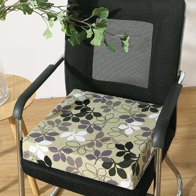 45D全棉帆布高密度加硬海绵坐垫椅垫可拆洗双面印花支持定做 30*40*5cm 树叶