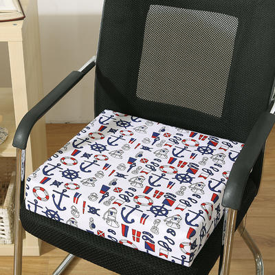 45D全棉帆布高密度加硬海绵坐垫椅垫可拆洗双面印花支持定做 30*40*5cm 水手