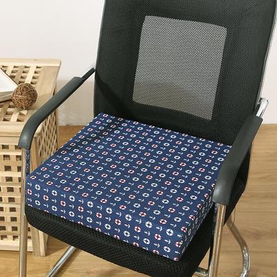 45D全棉帆布高密度加硬海绵坐垫椅垫可拆洗双面印花支持定做 30*40*5cm 小锚