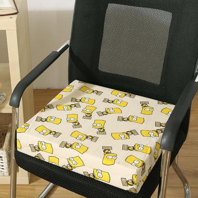 45D全棉帆布高密度加硬海绵坐垫椅垫可拆洗双面印花支持定做 30*40*5cm 辛普森