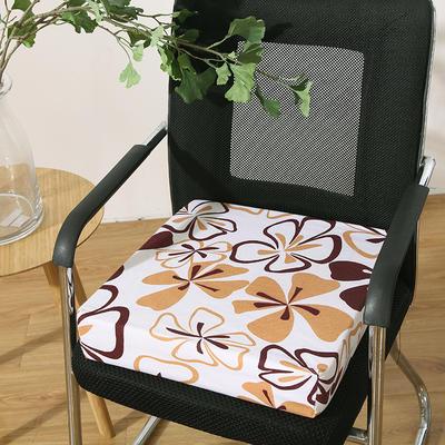 45D全棉帆布高密度加硬海绵坐垫椅垫可拆洗双面印花支持定做 30*40*5cm 辛运草