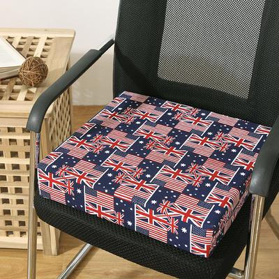45D全棉帆布高密度加硬海绵坐垫椅垫可拆洗双面印花支持定做 30*40*5cm 英美旗