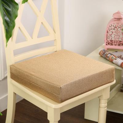 45D加厚亚麻高密度加硬海绵坐垫椅垫可拆洗双面简约支持定做 30*40*5cm 米黄