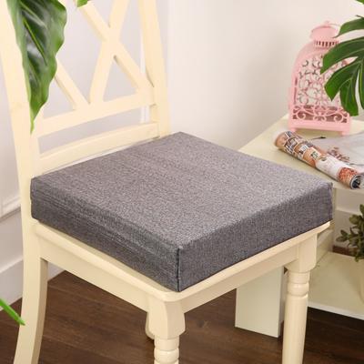 45D加厚亚麻高密度加硬海绵坐垫椅垫可拆洗双面简约支持定做 30*40*5cm 浅灰