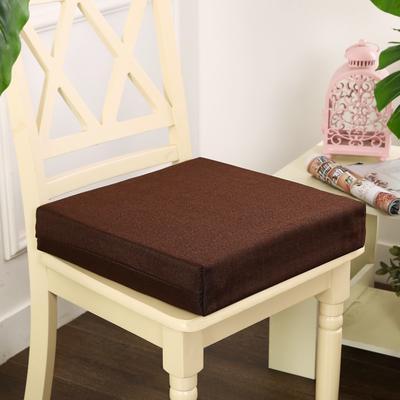 45D加厚亚麻高密度加硬海绵坐垫椅垫可拆洗双面简约支持定做 30*40*5cm 深棕