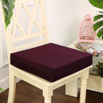 45D加厚亚麻高密度加硬海绵坐垫椅垫可拆洗双面简约支持定做 30*40*5cm 紫红