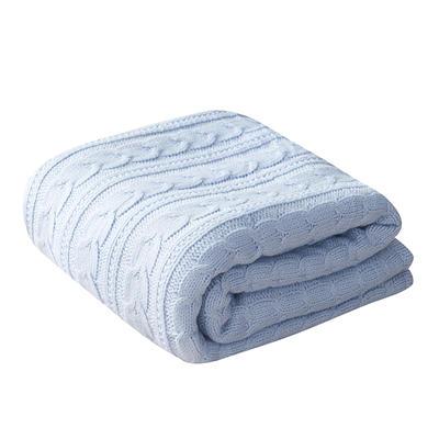 2019新款五色仿羊绒羊羔绒加厚毯 130*160 蓝色