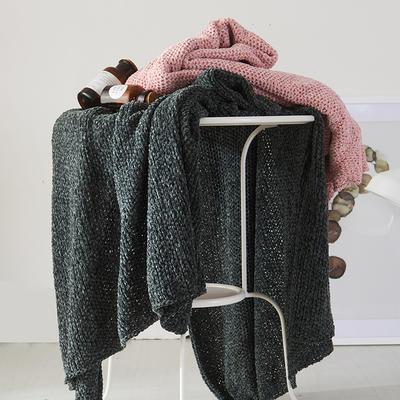 2019新款雪尼尔暖暖绒毯 130*170 墨绿