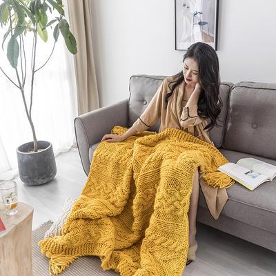 2019新款手工麻花 120x160 黄色
