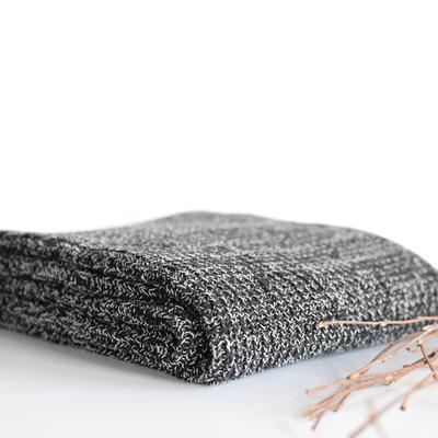2019新款鱼骨纹针织毯 120*180 黑