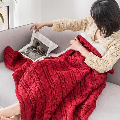 2019新款仿羊绒羊羔绒毯 130*160 红色