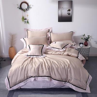 2019新款全棉水洗真丝套件 1.8m(6英尺)床 藕合色