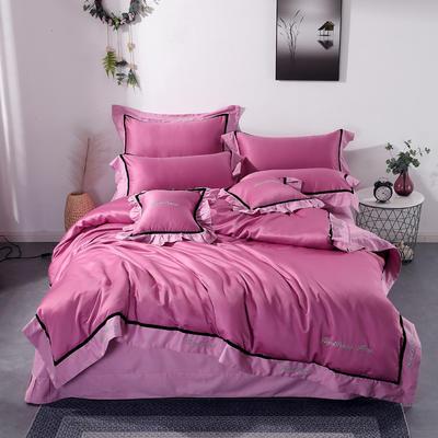 2019新款全棉水洗真丝套件 1.8m(6英尺)床 雪青紫