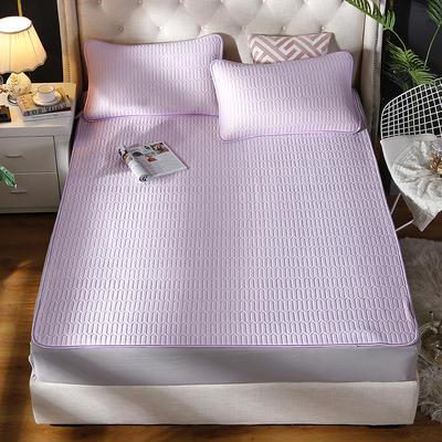 2019新款素色冰丝乳胶软席三件套 150*200 格调-紫