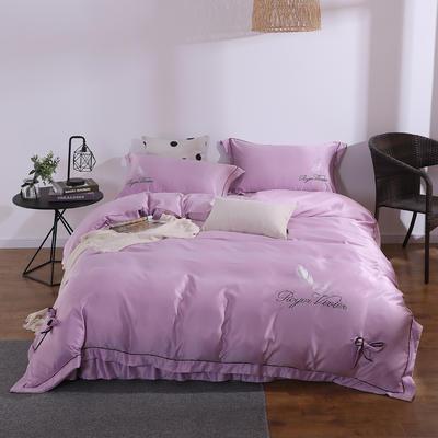 2019新款水洗真丝绣花四件套 1.5m(5英尺)床 魅力紫