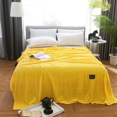 2019新款双面魔法绒四季毛毯 2*2.3m 柠檬黄