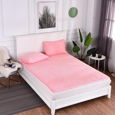 2019新款特价水晶绒乳胶床垫加厚 1.5m(5英尺)床 粉色