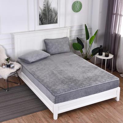 2019新款特价水晶绒乳胶床垫加厚 1.5m(5英尺)床 灰色
