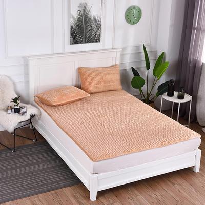 2019新款特价水晶绒乳胶床垫加厚 1.5m(5英尺)床 驼色