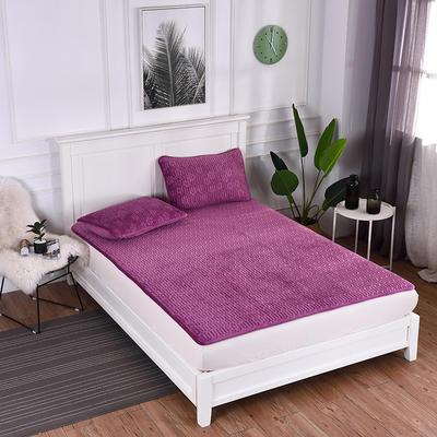 2019新款特价水晶绒乳胶床垫加厚 1.5m(5英尺)床 紫色
