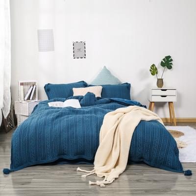 2019新款针织套件 2.0m(6.6英尺)床 宝蓝