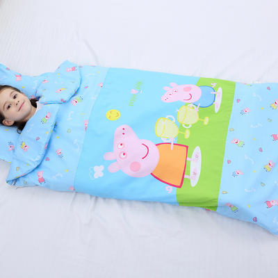 2019新全棉133x72卡通防踢被婴童儿童睡袋65*100cm 机智佩奇(单套)