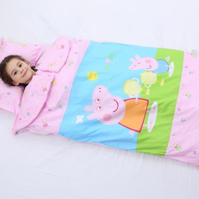 2019新全棉133x72卡通防踢被婴童儿童睡袋65*100cm 佩奇公主(单套)