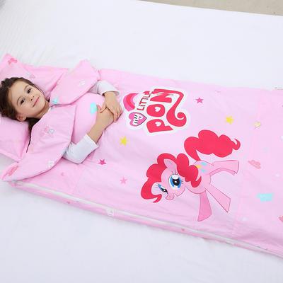 2019新全棉133x72卡通防踢被婴童儿童睡袋65*100cm 小马碧奇(棉花厚)