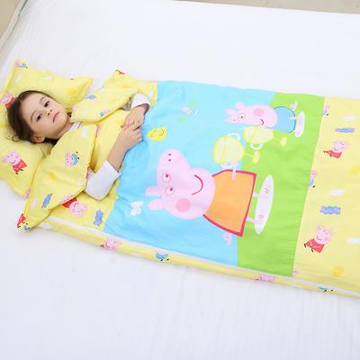 2019新全棉133x72卡通防踢被婴童儿童睡袋75*120cm 温暖佩奇(丝绵薄)