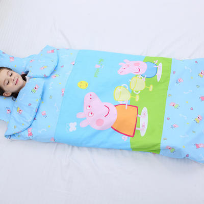 2019新全棉133x72卡通防踢被婴童儿童睡袋75*120cm 机智佩奇(丝绵厚)