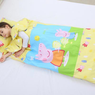 2019新全棉133x72卡通防踢被婴童儿童睡袋90*150cm 温暖佩奇(丝绵薄)