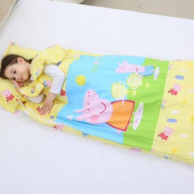 2019新全棉133x72卡通防踢被婴童儿童睡袋90*150cm 温暖佩奇(棉花薄)