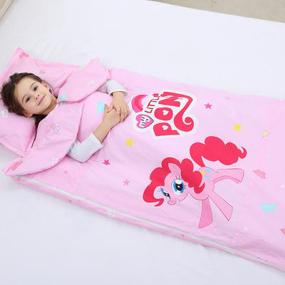 2019新全棉133x72卡通防踢被婴童儿童睡袋100*180cm 小马碧奇(丝绵薄)