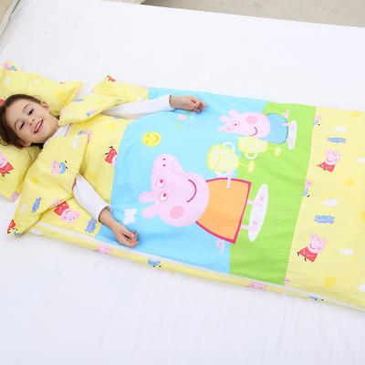 2019新全棉133x72卡通防踢被婴童儿童睡袋100*180cm 温暖佩奇(丝绵双胆)