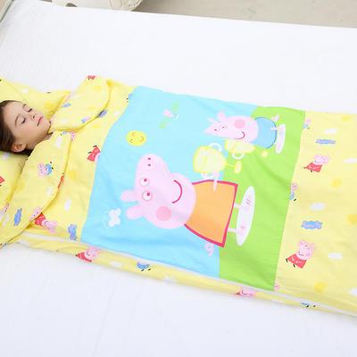 2019新全棉133x72卡通防踢被婴童儿童睡袋100*180cm 温暖佩奇(棉花薄)