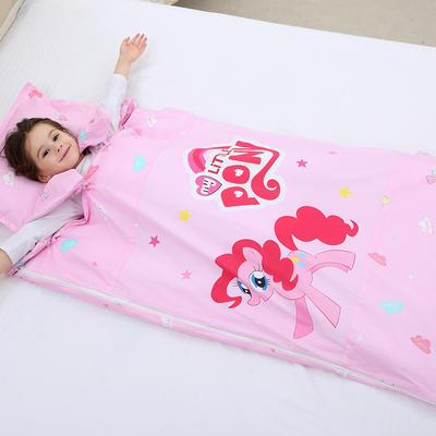 2019新全棉133x72卡通防踢被婴童儿童睡袋100*180cm 小马碧奇(棉花双胆)