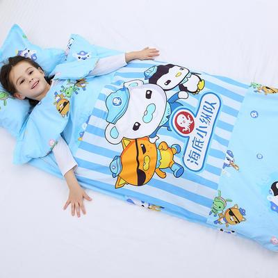 2019新全棉加里布宝宝绒系列卡通防踢被婴童儿童睡袋90*150cm 海底小纵队(单套)