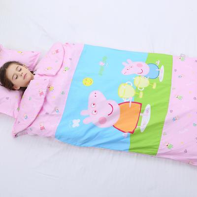 2019新全棉加里布宝宝绒系列卡通防踢被婴童儿童睡袋90*150cm 公主佩奇(棉花厚)