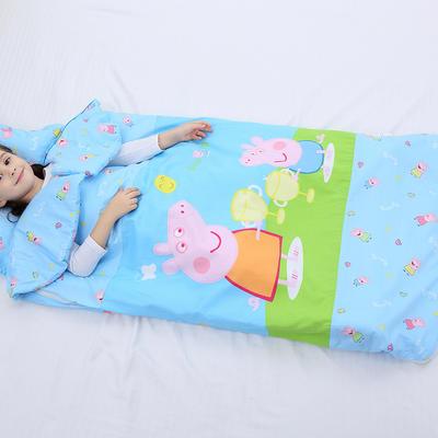 2019新全棉加里布宝宝绒系列卡通防踢被婴童儿童睡袋100*180cm 机智佩奇(棉花薄)