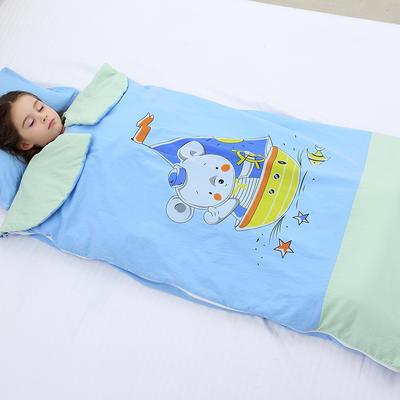 2019新水洗棉大版卡通防踢被婴童儿童睡袋65*100cm 航海家(单套)