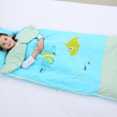 2019新水洗棉大版卡通防踢被婴童儿童睡袋65*100cm 海底总动员(丝绵薄)