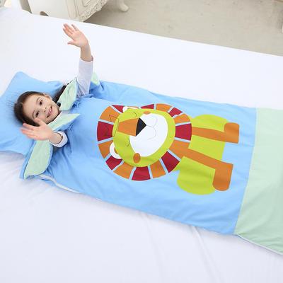 2019新水洗棉大版卡通防踢被婴童儿童睡袋65*100cm 丛林狮子(丝绵厚)