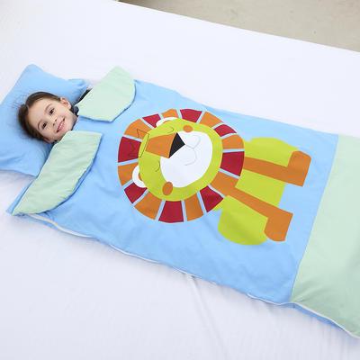 2019新水洗棉大版卡通防踢被婴童儿童睡袋100*180cm 丛林狮子(单套)