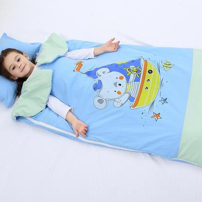 2019新水洗棉大版卡通防踢被婴童儿童睡袋100*180cm 航海家(单套)